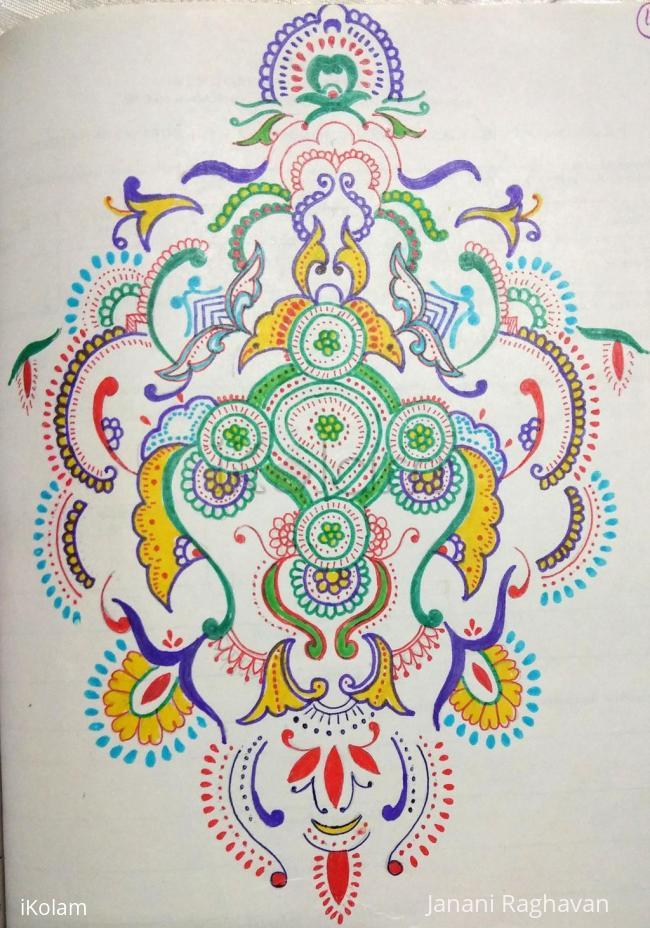 Rangoli: Kolam Notebook Kolams- 91