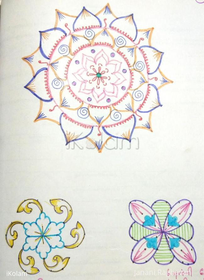 Rangoli: Kolam Notebook Kolams- 95