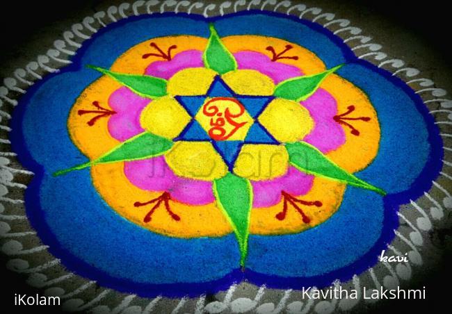 Rangoli: Colorful sashti rangoli