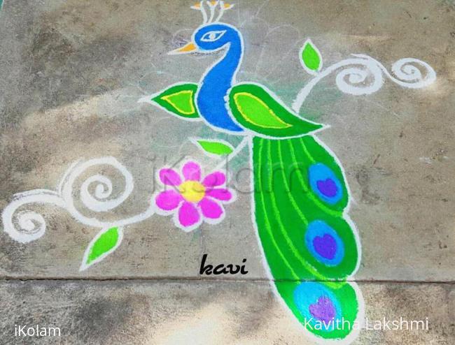 Rangoli: Lovely peacock