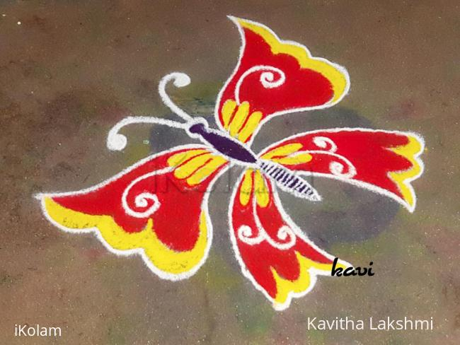 Rangoli: Bright Butterfly