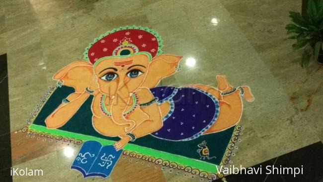 Rangoli: Ganesha rangoli
