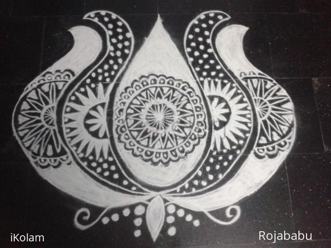Rangoli: Margali kolam 7