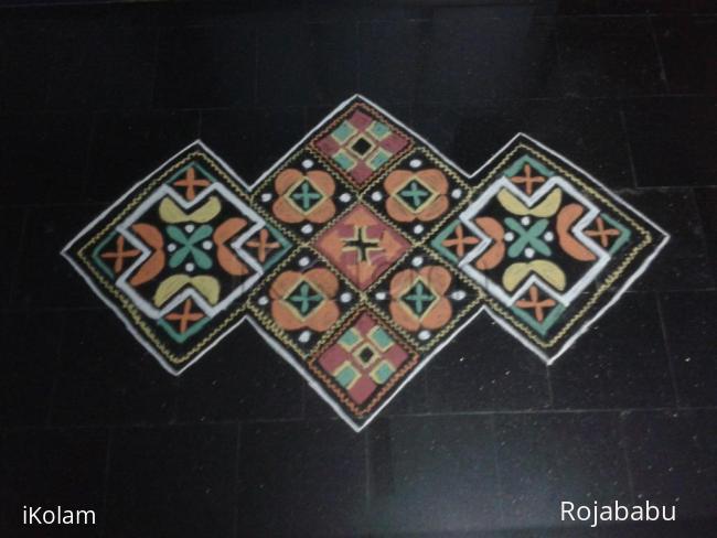 Rangoli: square rangoli