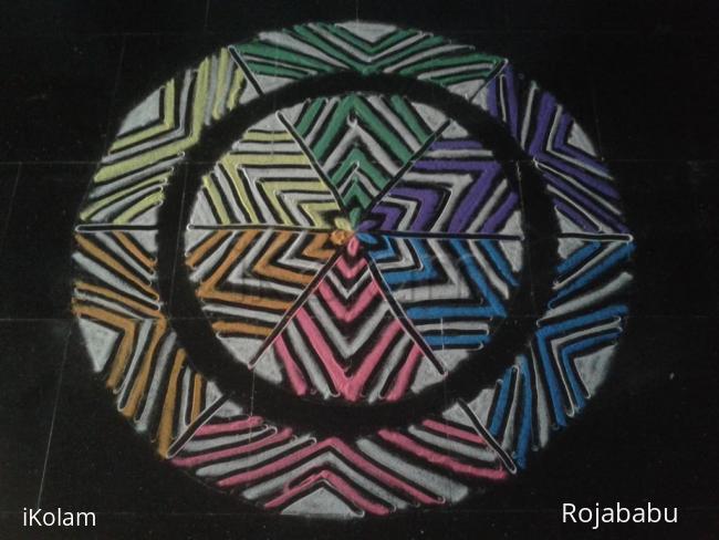 Rangoli: Multi colour rangoli