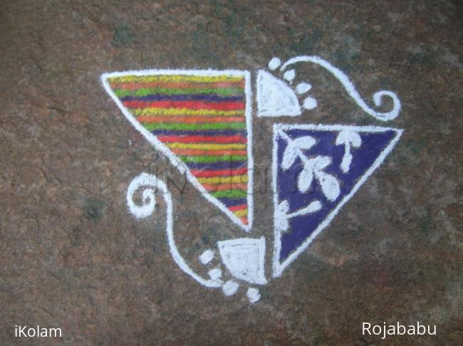 Rangoli: two triangle