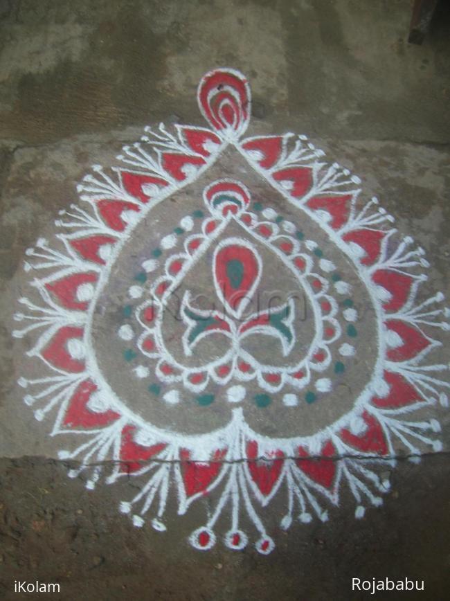 Rangoli: free hand margali rangoli