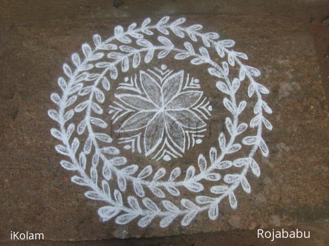 Rangoli: simple white rangoli