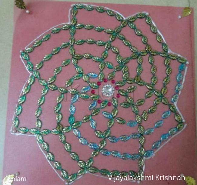Rangoli: Portable rangoli - Hridayakamalam