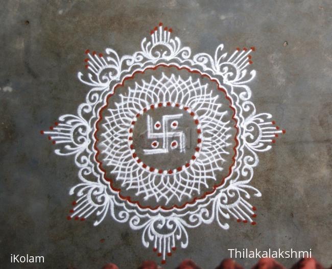 Rangoli: Vinayaka Chathurthi kolam