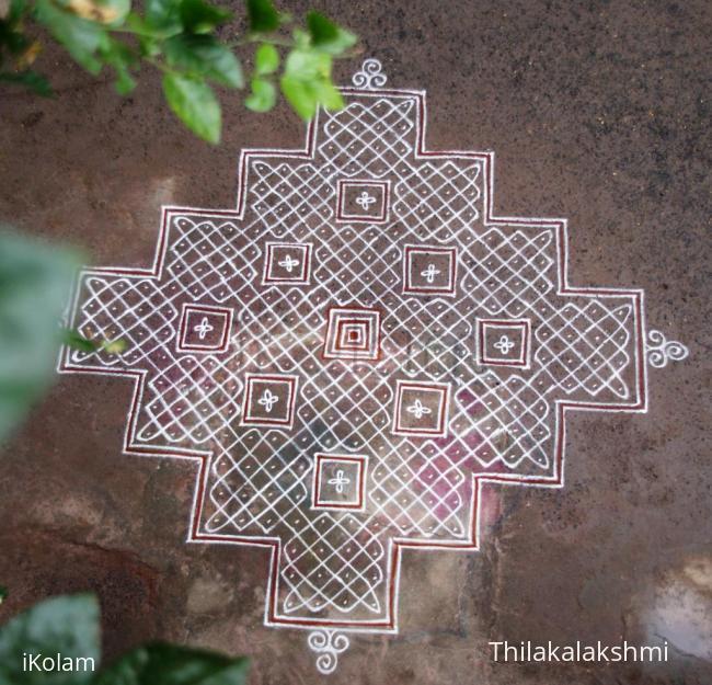 Rangoli: Steps kolam
