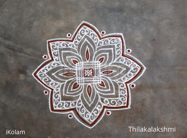 Rangoli: Freehand padi kolam