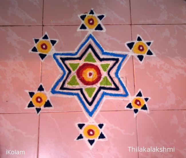 Rangoli: Multi star rangoli