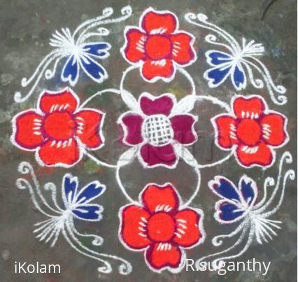 Rangoli: Margazhi Rangoli 4
