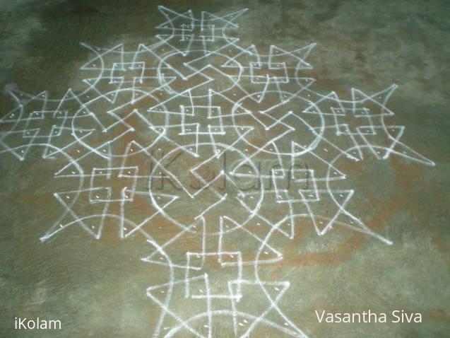 Rangoli: Marghazhi puli kolam