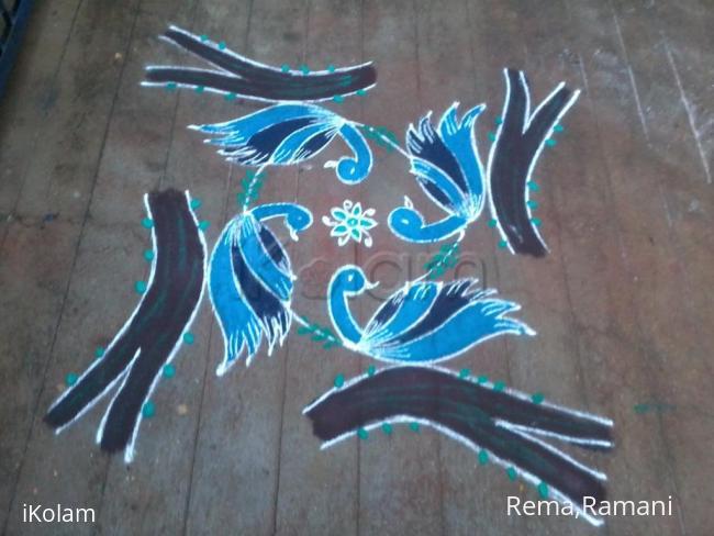 Rangoli: Birds rangoli