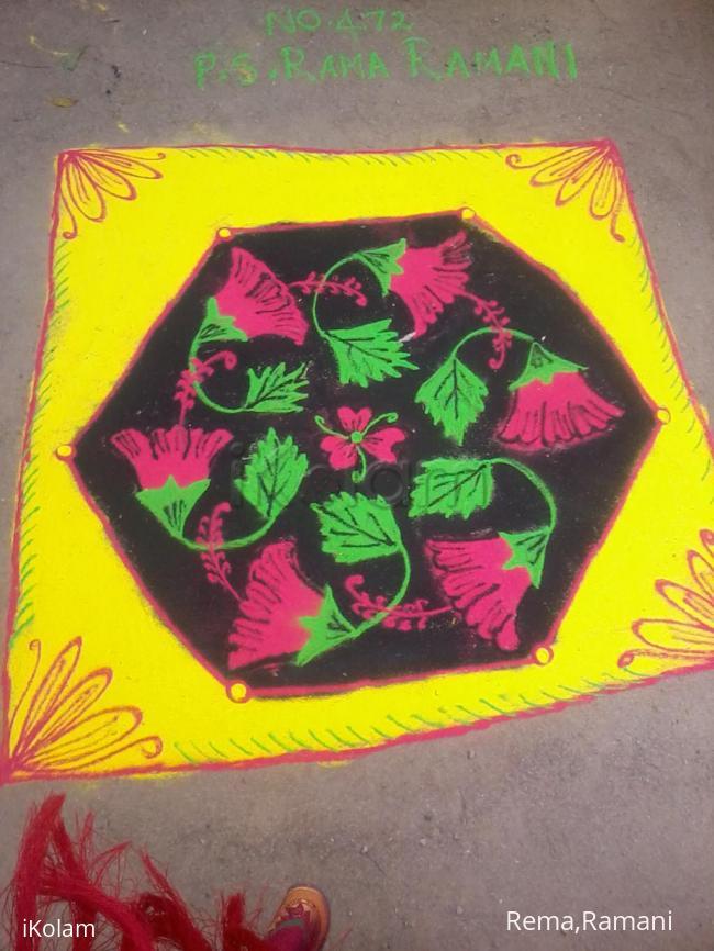 Rangoli: sembaruthi poo kolam