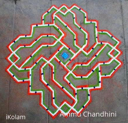 Rangoli: Republic day spl kolam