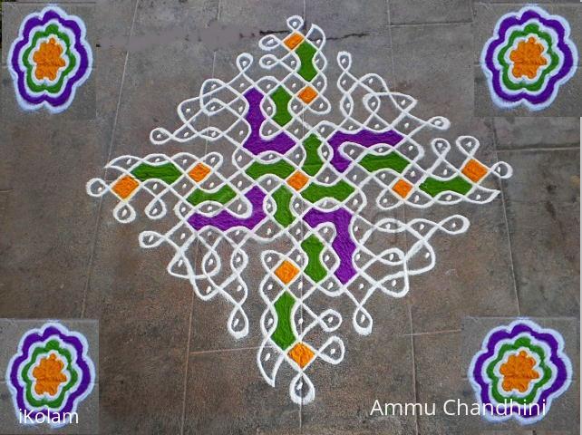 Rangoli: mardi gras rangoli-1