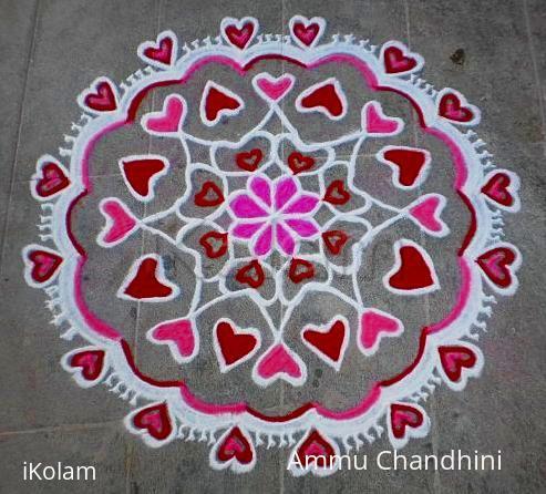 Rangoli: Valentine day spl rangoli-3