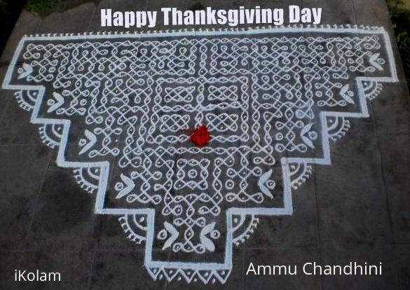 Rangoli: Thanks giving day spl kolam