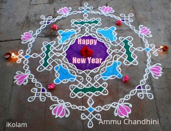 Rangoli: Happy new year spl kolam