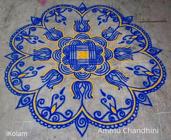 Rangoli: Chitra pournami kolam