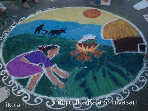 Rangoli: Free hand
