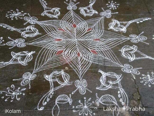 Rangoli: SkandShashti Kolam in my home