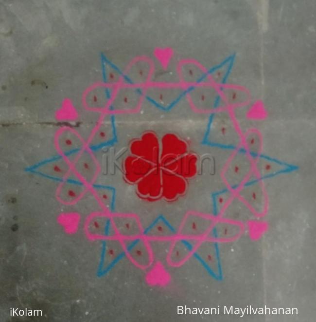 Rangoli: Valentines Day dotted  2017