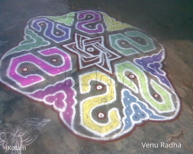 Rangoli: 'S' Colour Kolam