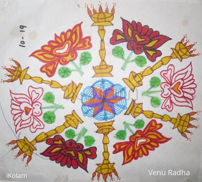 Rangoli: Dotted Margazhi rangoli