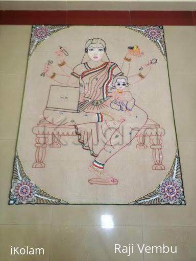 Rangoli: template for multi tasking lady year 2014