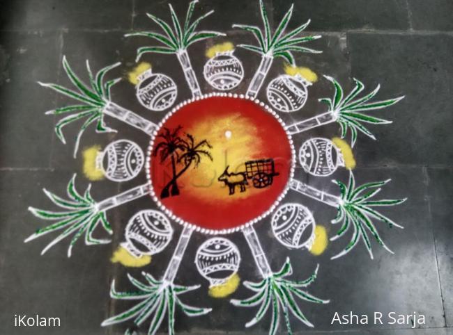 Rangoli: Sankranthi /pongal