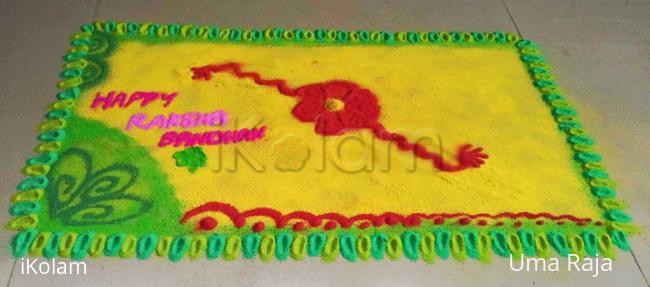 Rangoli: Happy raksha bandhan