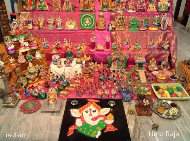 Rangoli: navaratri day 4