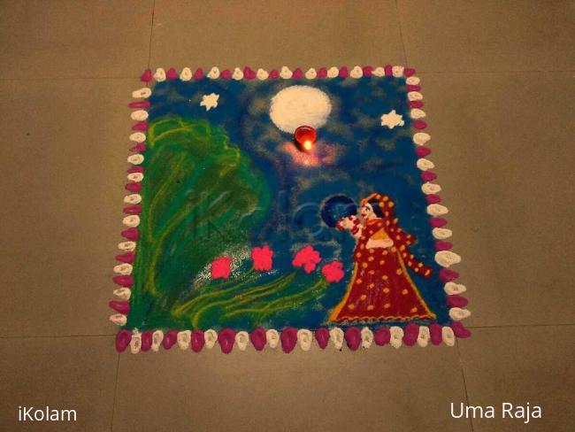 Rangoli: Happy karva chauth