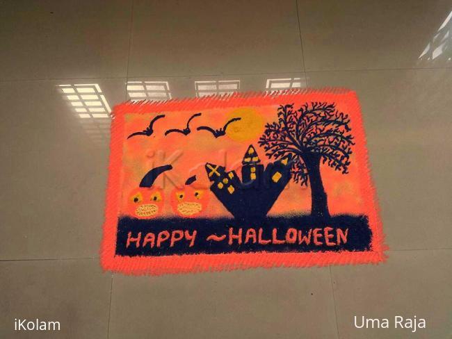 Rangoli: Happy Halloween
