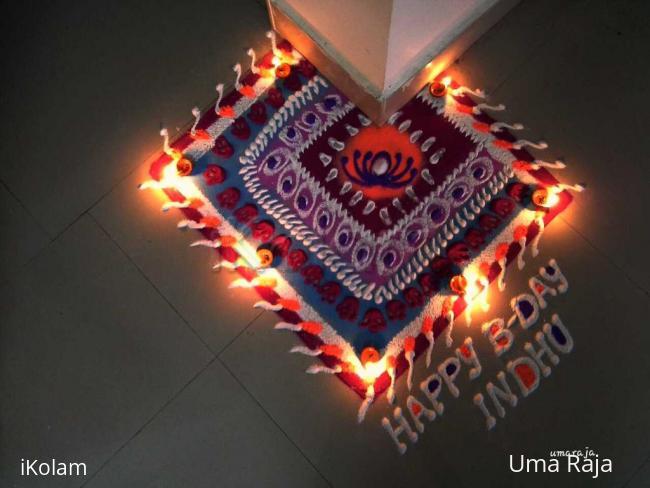 Rangoli: Happy bday indhu