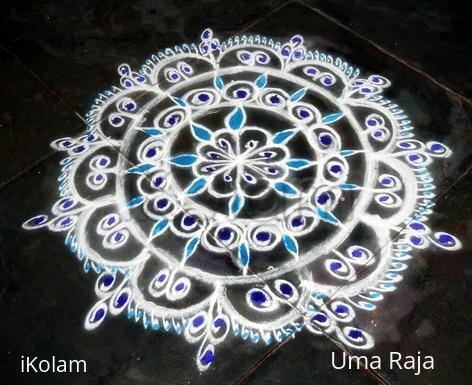 Rangoli: blue drops
