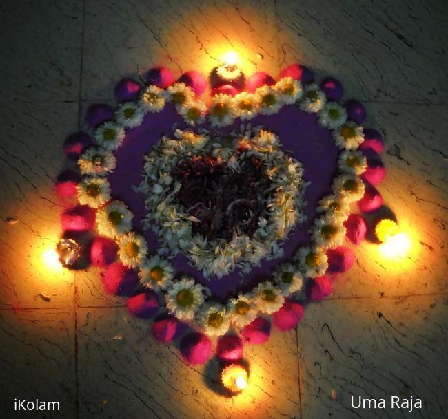 Rangoli: valentines day