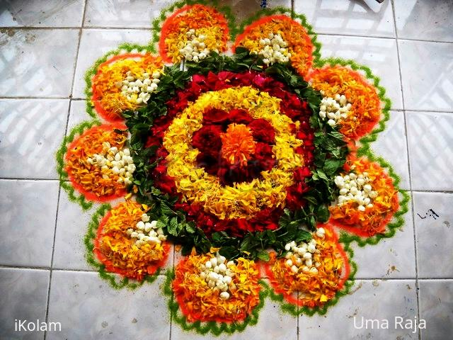 Rangoli: happy onam