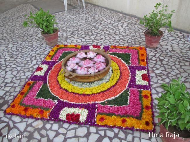 Rangoli: wedding pookolam