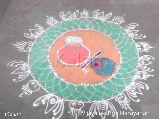 Rangoli: Janmashtami rangoli 2012
