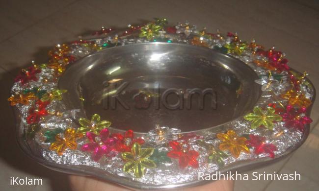 Rangoli: stone aarthi plate