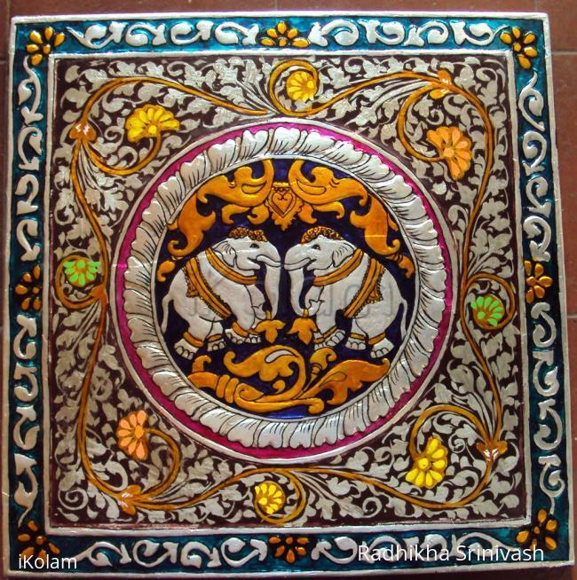 Rangoli: Kinnal art work