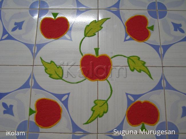 Rangoli: apple rangoli