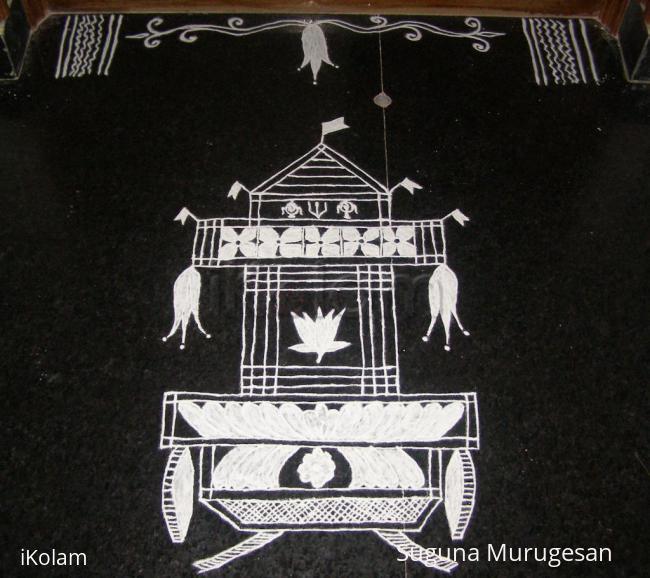 Rangoli: aadi pooram special!
