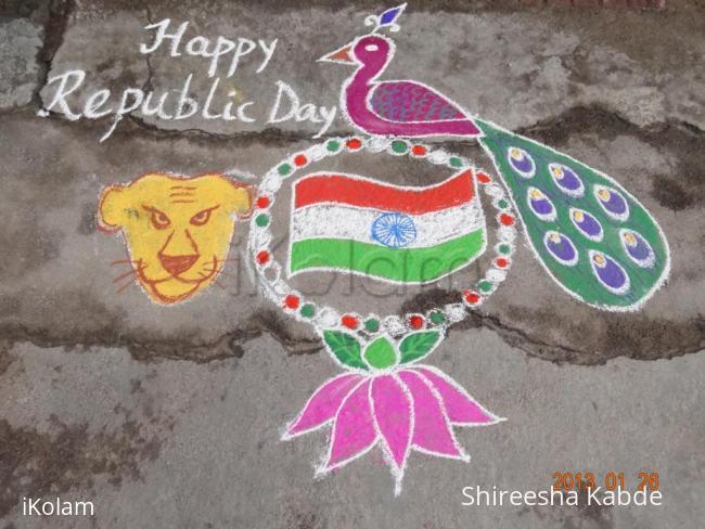 Rangoli: Happy Republic Day :)