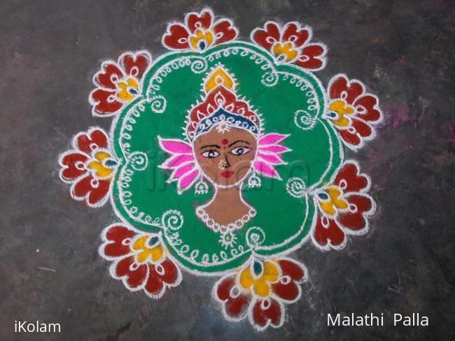 Rangoli: Free hand Devi Durga Rangoli